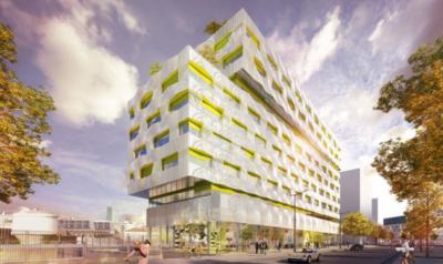 J2si Installe Eric Kayser sur l'immeuble des ACM au 15/19 avenue Pierre Mendes France